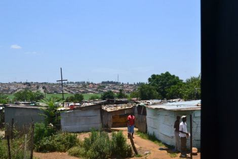 Kliptown Soweto in the Background